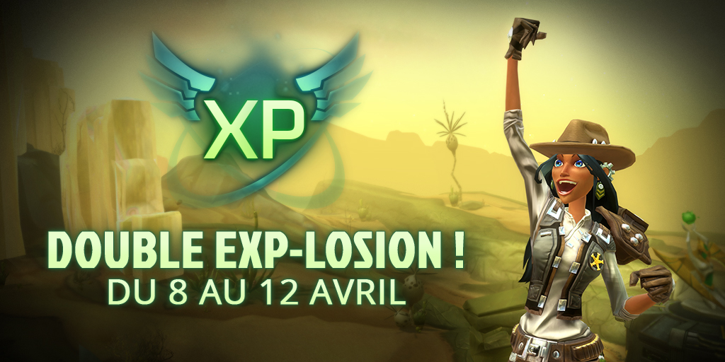 Points d'EXP doublés sur Wildstar